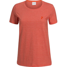 Peak Performance Track Camiseta Manga Corta Mujer, orange flow